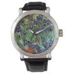 Van Gogh Irises, het Vintage PostArt. van het Horloges
