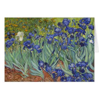 Van Gogh Irises Vintage Fijne Kunst Bloemen Wenskaart