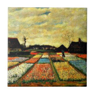 Van Gogh kunst: De Bedden van de bloem in Holland Keramisch Tegeltje