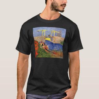 Van Gogh Langlois Brug, Arles, Vintage Fijn Art. T Shirt