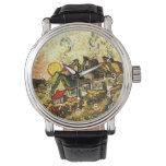 Van Gogh - Met stro bedekte Plattelandshuisjes in Horloges