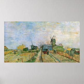 Van Gogh Moestuin in Montmartre, Fijn Art. Poster