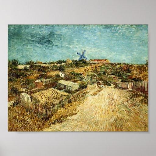 Van Gogh - Moestuinen in Montmartre Posters