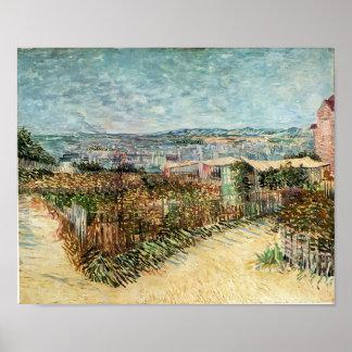 Van Gogh - Moestuinen in Montmartre Print