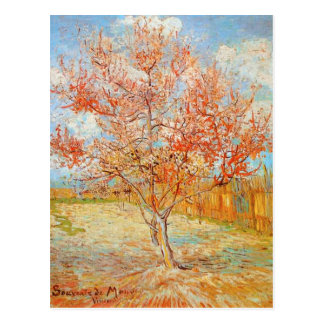 Van Gogh Pink Perzikboom in het Briefkaart van de