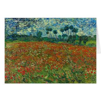 Van Gogh Poppy Gebied Notitiekaart