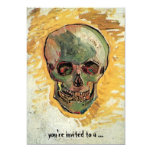 Van Gogh Skull, het Vintage Impressionisme van het 12,7x17,8 Uitnodiging Kaart