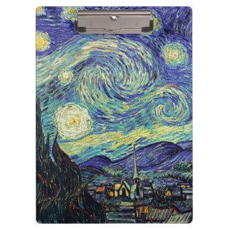 Van Gogh Starry Nacht Klembord
