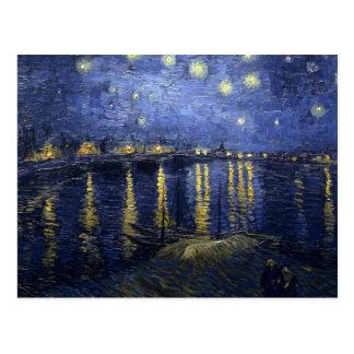 Van Gogh Starry Nacht over de Rhône Briefkaart