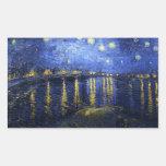 Van Gogh Starry Nacht over de Stickers van de