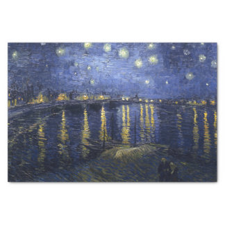 Van Gogh   Sterrige Nacht over de Rhône   1888 Tissuepapier