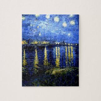 Van Gogh - Sterrige Nacht over de Rhône Puzzel