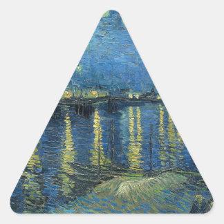 Van Gogh: Sterrige Nacht over de Rhône Stickers
