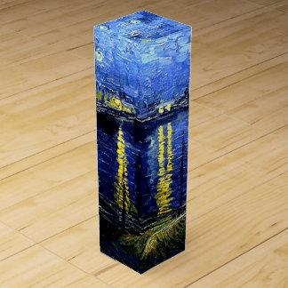 Van Gogh - Sterrige Nacht over de Rhône Wijn Geschenkdoos