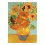 Van Gogh Sunflowers de Uitnodiging van het