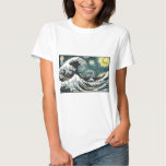 Van Gogh The Sterrige Nacht - Hokusai de Grote T Shirts