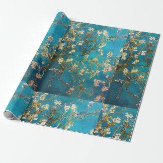 Van Gogh Turquoise de Boom van de Bloesem Inpakpapier