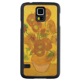 Van Gogh Vijftien Zonnebloemen in een Fijn Art. Esdoorn Galaxy S5 Slim Case