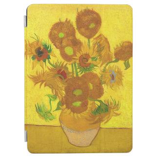 Van Gogh Vijftien Zonnebloemen in een Fijn Art. iPad Air Cover