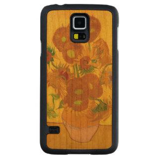 Van Gogh Vijftien Zonnebloemen in een Fijn Art. Kersen Galaxy S5 Slim Hoesje