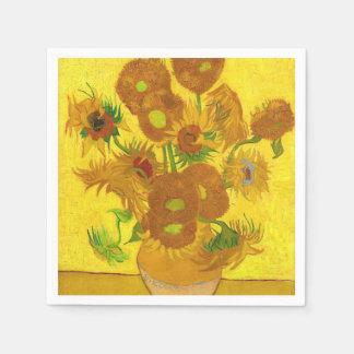 Van Gogh Vijftien Zonnebloemen in een Fijn Art. Papieren Servetten