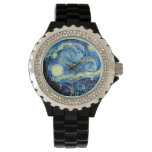 Van Gogh's het beroemde schilderen, Sterrige Nacht Horloges