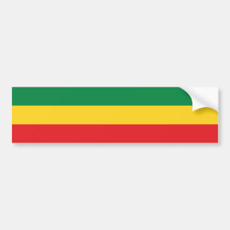 Van groene, Gouden (Geel) en Rode Kleuren de Vlag Bumpersticker