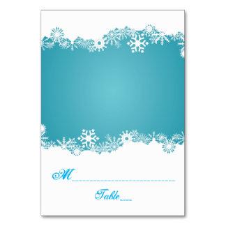 Van het aqua de witte huwelijk van de sneeuwvlok kaart