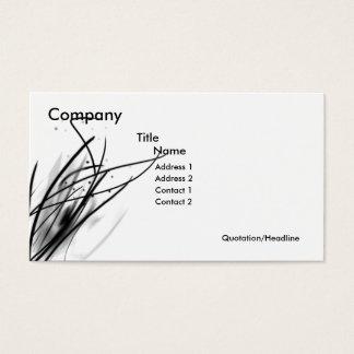 Van het bedrijfs koord Reeks Visitekaartjes
