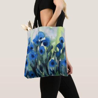 """Van het """"blauwe Gebied van Bloemen"""" de Abstracte Draagtas"""