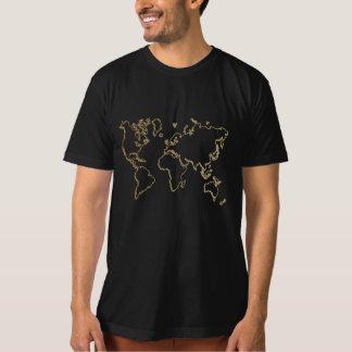 van het de afstuderent-shirt van de wereldkaart de t shirt