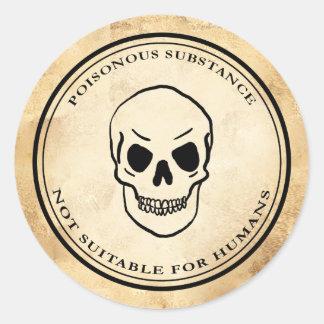 Van het de alchimievergift van Halloween vintage Ronde Sticker