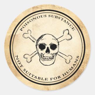 Van het de apothekervergift van Halloween vintage Ronde Stickers
