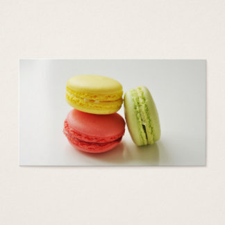 Van het de bakkerij Franse gebakje van de makaron Visitekaartjes