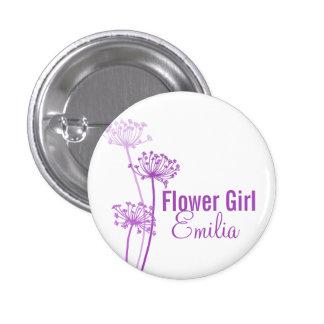 Van het de bloem paarse huwelijk van de kervel de  button