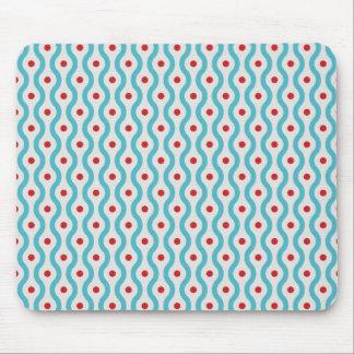 Van het de cirkels grafische ontwerp van mod. blau muismat
