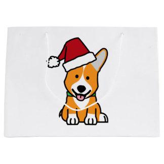 Van het de hondpuppy van Corgi pet van de Kerstman Groot Cadeauzakje