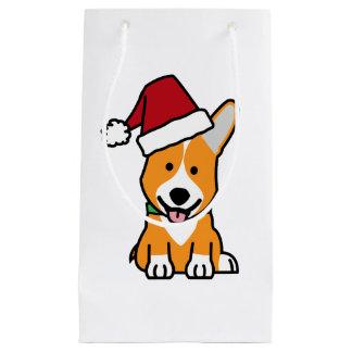 Van het de hondpuppy van Corgi pet van de Kerstman Klein Cadeauzakje