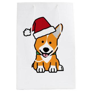 Van het de hondpuppy van Corgi pet van de Kerstman Medium Cadeauzakje