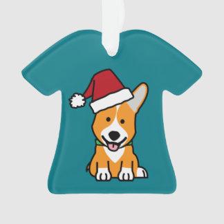 Van het de hondpuppy van Corgi pet van de Kerstman Ornament