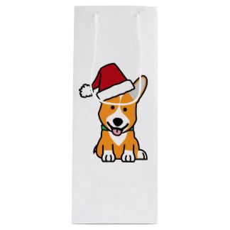 Van het de hondpuppy van Corgi pet van de Kerstman Wijn Cadeautas