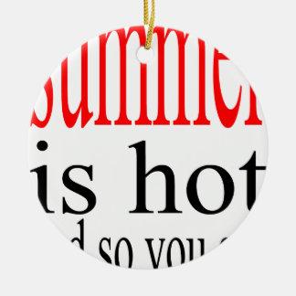 van het de liefdezweet van de de zomer hete flirt rond keramisch ornament