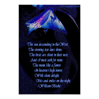 """Van het de mijn"""" citaat van William zoeken Blake Poster"""