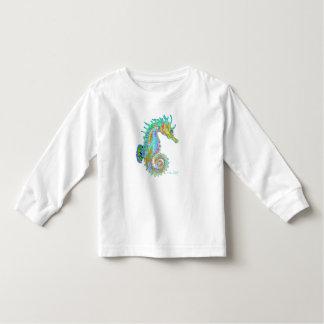 Van het de peuter lang sleeve van Seahorse het Kinder Shirts