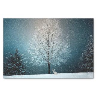 Van het de sneeuwlandschap van de winter de tissuepapier