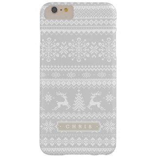 Van het de sweater grijs eerlijk eiland van barely there iPhone 6 plus hoesje