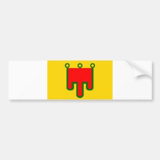 Van het de vlag het Franse gebied van Auvergne lan Bumpersticker