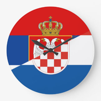 van het de vlagland van Servië Kroatië het halve Grote Klok