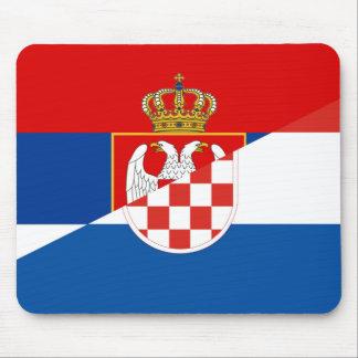 van het de vlagland van Servië Kroatië het halve Muismat