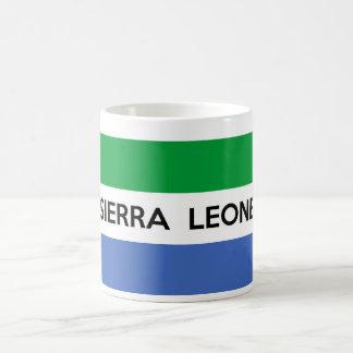 van het de vlagland van Sierra Leone de tekstnaam Koffiemok